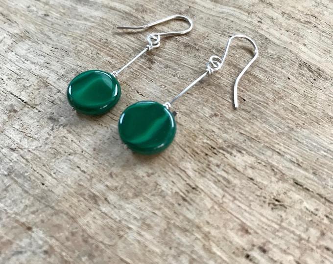 Malachite Earrings