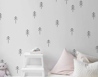 Tree decals, nursery wall decal, wall decals, nursery decal, green decals, nature decals, baby room decal, living room decal, window decal