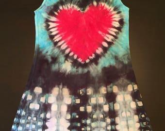 Women's (Med) Tie-Dye 100% Jersey Cotton Tank Sundress
