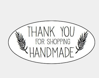Thank you for shopping Handmade  Kraft / Mini Oval labels/seals