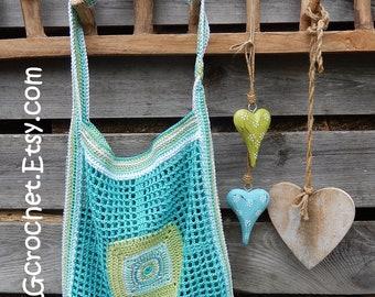 Crochet pattern MARKET TOTE BAG 'square' by ATERGcrochet