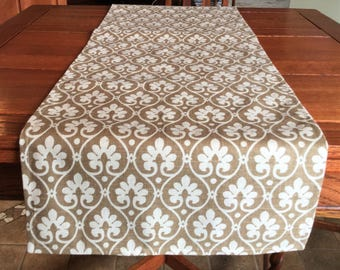Handmade Table Runner, Ikat Table Runner, Shabby Chic Table Runner, House Warming Gift