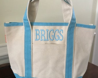 Kids Canvas Tote Bag Personalized  - 3 Sizes Available - Monogram Canvas Bags - Baby Shower Gift Ideas