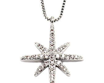 Fashion polaris small crystal necklace