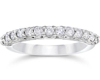 5/8Ct Diamond Wedding Ring 10K white Gold