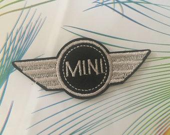 Mini cooper Embroidered Iron On Patch, mini cooper patch, Mini cooper logo