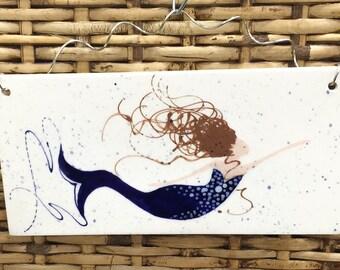 Mermaid Wall Plaque. Home Decor. Kitchen. Housewarming. Mermaid. Handmade by Sara Hunter