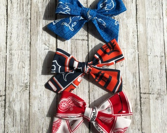 Detroit Lion, Detroit Tiger and Detroit Red Wing Kinley Bows