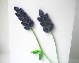 Quilled Flower Card in Deep Purple (blank inside)