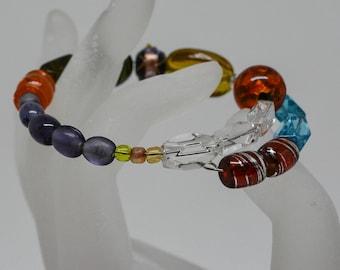 Charming multi color beaded bracelet
