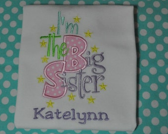 Personalized Big Sister Shirt or Bodysuit