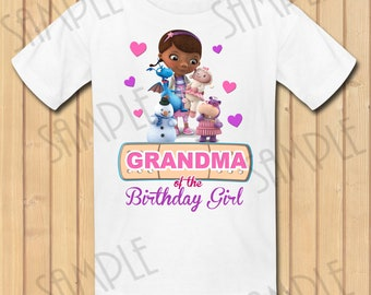 Disney Doc McStuffins Grandma of the Birthday Girl INSTANT DOWNLOAD Personalized Matching birthday party shirts Iron on transfer Printable
