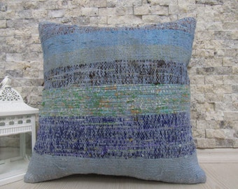 "kilim pillow cover 16"" x 16"" home decor kilim cushion bolster pillow throw pillow bedding pillow aztec pillow boho pillow rustic pillow"