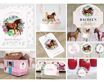 INSTANT DOWNLOAD - Horse Party Decor | Horse Party Printables | Pony Party Decor | Pony Party Printables