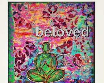 Colorful Beloved mixed media art print