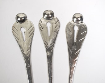 3 antique 19th century Italian / Swiss hair pins ornaments.