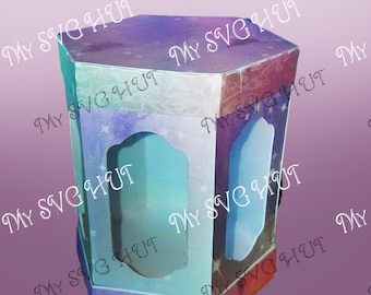 Hexagonal gift box DIGITAL download