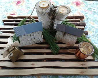 20 Birch Log Place Card Holder For Wedding or Special Event