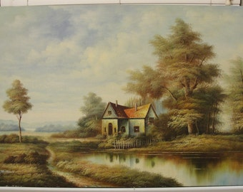 Ballesio Signed Original Oil on Canvas Painting