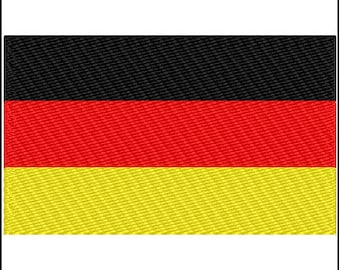 German Flag Embroidery Design 3 sizes