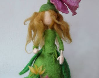 Needle felted Waldorf doll. Blossom Fairy.