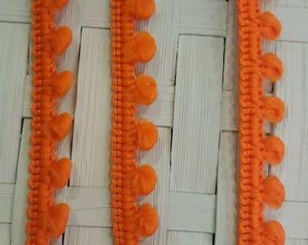 Mini braid tassels orange color for customization
