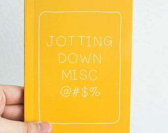 Pocket Sized Journal Booklet - YELLOW Statement Notebook