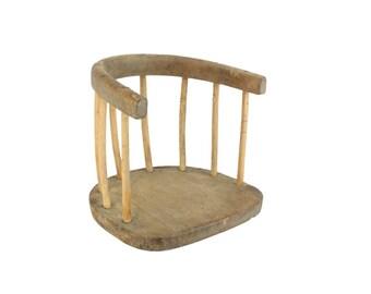Antique Primative Wooden Childrenu0027s Seat Chair // Antique Wooden Childrenu0027s Swing // Antique Bent  sc 1 st  Etsy & Antique kids chair | Etsy
