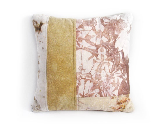 Pink & Tan Patchwork Pillow