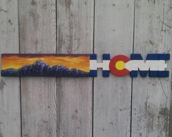 Colorado Home Mountain Sunset Sky Sign