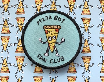 Pizza Bot Fan Club Embroidered Patch