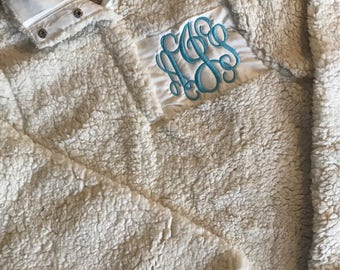 QUICK SHIP/Monogrammed Sherpa Pullover