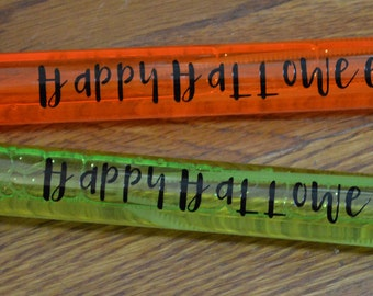 Happy Halloween Bubble Wands!  Halloween Bubbles! Bubble Wand Party Favor! Kids Bubble Wands! Your Choice Of Colors!