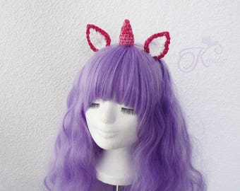 Unicorn headband (pink)