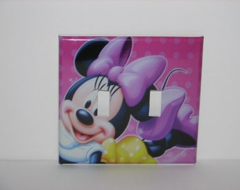 Minnie Mouse Double Switch plate light cover Double Toggle