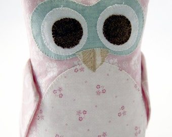 Pink Stuffed Owl ~ Owl Nursery Decor ~ Owl Plush Toy ~ Owl Plushie ~ Owl Stuffed Toy ~ Pink Owl Toy ~ Owl Decor ~ 6-inch (15.2cm)