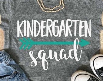 Kindergarten squad svg, Back to school svg, Kindergarten shirt, teacher svg, svgs, SVG, DXF, school svg, clip art, teacher shirt, eps