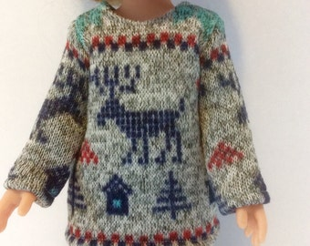 "Sweater knit fleece top and pants Doll Clothes  tkct913 fits Corolle 13"" Les Cheries 14"" Hearts for Hearts"
