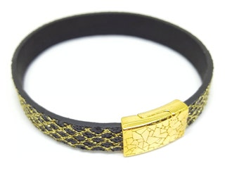 "Wristband leather ""ORIENT"""