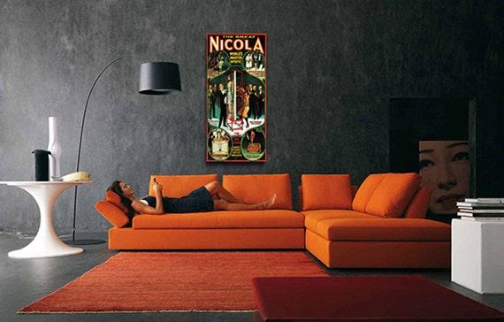 Vintage Nikola Worlds Master Mystic Magic Magician Poster 12 X 24 Fine Art Print Giclee