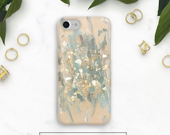 Blue Gold Phone Case, Gold Samsung Case, Abstract Case, Galaxy S8 Plus Case, Note 8, Galaxy S9, iPhone 8, Iphone 7, iphone 6, iPhone X