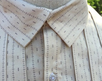 Mens Civil War Era /  Mid 19th C. Shirt - Made To Order