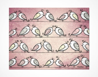 greeting card-love birds