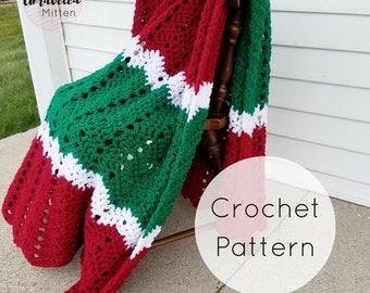 Merry & Bright Throw   CROCHET PATTERN   pdf digital download