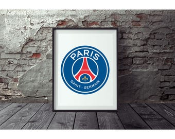 Paris Saint Germain  Poster no FRAME  included  (Next day FREE Shipping within the USA)
