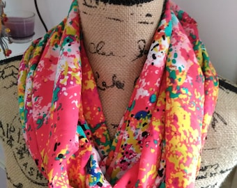 Snood scarf multicolor new and handmade!
