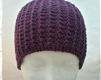 Ear Warmer, Purple Ear Warmer, Knitted Ear Warmer, Wide War Warmer