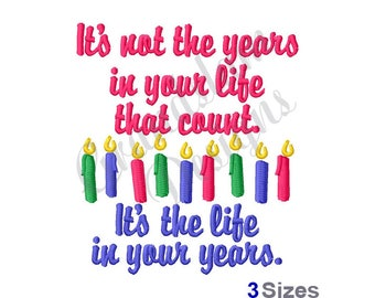 Birthday Candles - Machine Embroidery Design