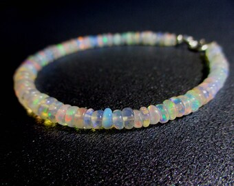 Ethiopian Opal Bracelet, Beaded Jewelry, Gemstone Stacking Bracelet, Jewelry, Jewellery