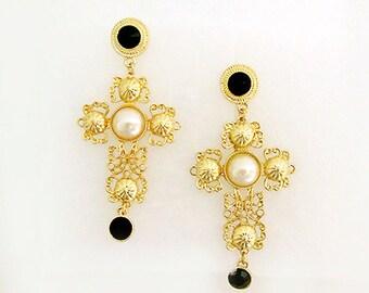 VANGUARD LOUISE Barocco Drop Earrings